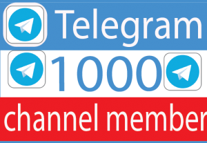 I Will provide 1000+ Telegram Channel member Real active User 100% Guaranteed