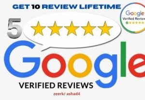I will give 10 Google Map Verified Customer Reviews From your targeted area.