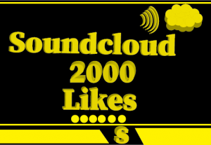 2000+ Soundcloud likes,Non Drop and 100% Real