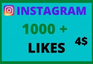 Add 1000 +  HQ Instagram Real Likes