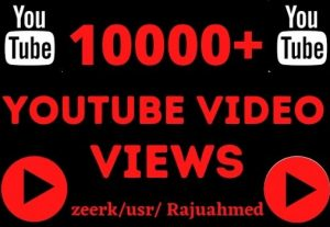 Get 10000+ Youtube video views Life Time Guaranteed Real Service
