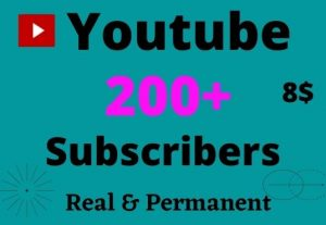 Instant Start 200 + Non Drop Youtube Subscribers