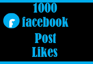 1000+ Facebook post likes, 100% real and organic