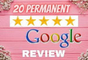 I will provide 20 permanent google review for you