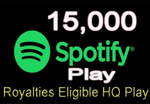 Get 15,000 Real Spotify Play Music Promotion From A+ Countries USA/UK/EU/AU/CA/NZ