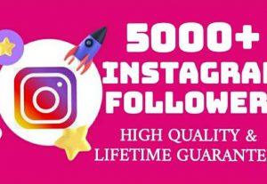 Add 5000+ Instagram followers permanently