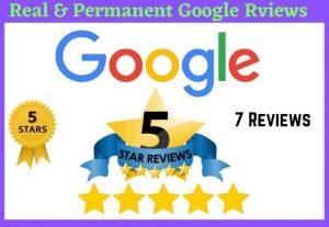 Get 7 google 5 stars permanent reviews