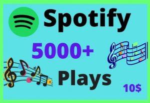 5000 HQ Spotify Music plays lifetime guarantee