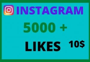 5,000 + Instagram Likes, Real and Active