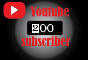 200+ YouTube subscribers, non drop,100% real and lifetime permanent