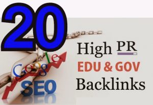 I Will DO High PR 20 EDU-GOV Backlinks