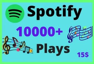 Get 10000+ Spotify Plays from USA accounts || Lifetime Guarantee || 100 % Permanent