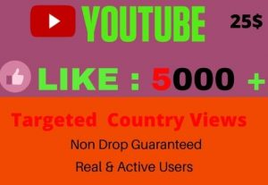 I will give 5000+ YOUTUBE like, I will Promote Your video, NON DROP, Lifetime guaranteed