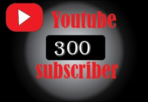 300+ YouTube subscribes, non drop, 100%organic and lifetime permanent