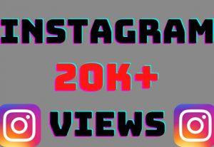I will add 20k+ Instagram video views