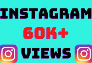 I will add 60k+ Instagram video views