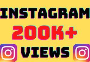I will add 200K+ Instagram video views