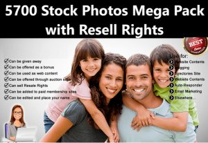 I Will give 5700 Stock Photos Mega Pack with Resell Rights