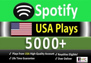 Get 5000 to 7000 ORGANIC Plays From HQ USA Accounts or 2000 Worldwide Followers, Real and Active Users, Guaranteed