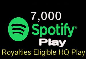 You will get 7,000+ Real Spotify Play Music Promotion From A+ Countries USA/UK/EU/AU/CA/NZ