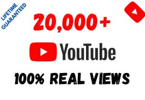 Get 20,000+ YouTube 100% Real Views and 200 Likes