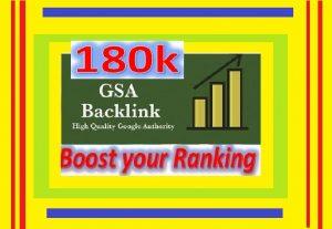 Create & Provide 180k+ GSA UNIQUE BACKLINKS for Your Website ranking