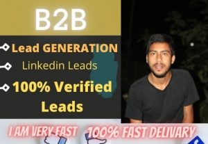 I will provide you 250+ B2B Lead Generation and Web research