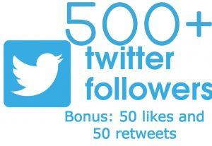i will send you 500 twitter followers with BONUS