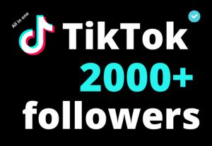 I will add 2000+ TikTok followers ,all followers are 100% real and organic.