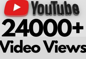 I will add 24000+ REAL AND non drop YouTube video views