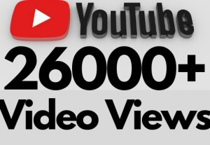 I will add 26000+ REAL AND non drop YouTube video views