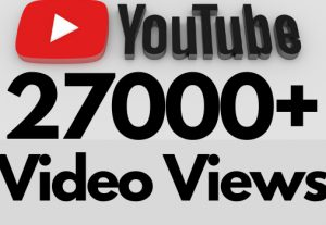 I will add 27000+ REAL AND non drop YouTube video views