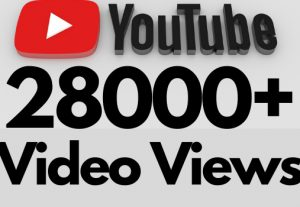 I will add 28000+ REAL AND non drop YouTube video views