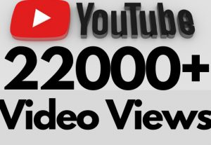 I will add 22000+ REAL AND non drop YouTube video views