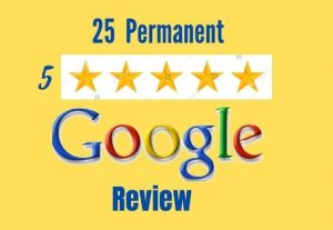 I will provide 25 permanent google reviews for you