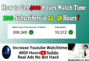 Increase 4000 hours youtube watchtime