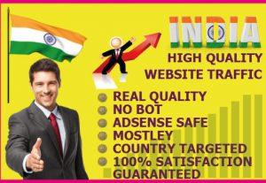 I will drive 10,000+ INDIA Website Traffic