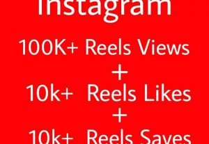 Get ORGANIC 100k+ Reels Views + 10k+ Reels Likes And 10k+ Reels Saves Real And Non-Drop 30 days refill Guarantee