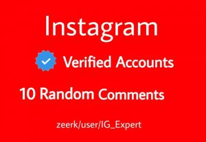10 Random Comments From Instagram Verified Accounts Real And Active