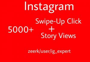 5000+ Swipe-Up Clicks And Instagram Story Views Real And Active