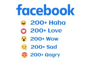 I will Give you 200+ All Facebook Emotions Real And Non-Drop 30 days refill Guarantee.