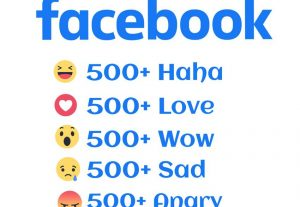 I will give you 500+ All Facebook Emotions Real and Non-Drop 30 days refill Guarantee