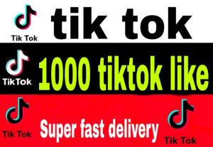 1000 tiktok video likes fast delivery