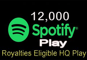 I will give 12,000 Real Spotify Play Music Promotion From A+ Countries USA/UK/EU/AU/CA/NZ