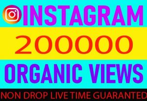 I wiil provide your Instagram 200000 views Non Drop Live Time Guaranteed