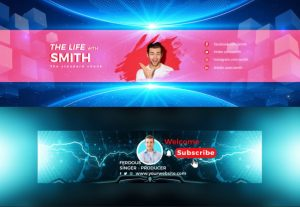I will design an outstanding youtube banner or channel art