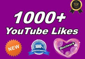 I will give you 1000 YouTube Likes Non drop
