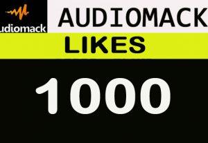 1000 Audiomack Likes, Nondrop, Lifetime guaranteed