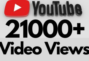 I will add 21000+ REAL AND non drop YouTube video views