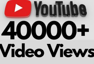 I will add 40000+ REAL AND non drop YouTube video views